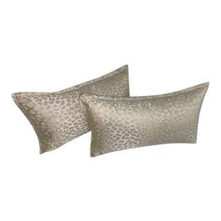 Beacon Hill Silk Jacquard Leopard Pillows - A Pair For Sale