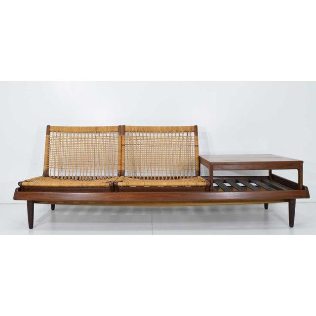 Brown 1950s Vintage Modular Bench Model 161 Designed by Hans Olsen for Bramin For Sale - Image 8 of 13