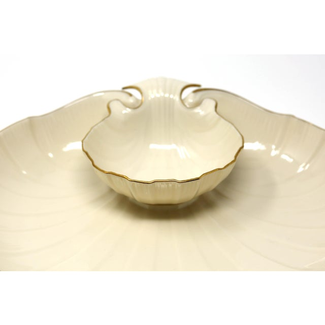"Figurative Lenox ""Aegean"" Gold-Rimmed Shell Dip Bowl For Sale - Image 3 of 8"