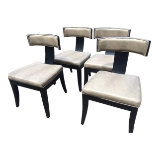 Modern Classic Klismos Dining Chairs- Set of 4 For Sale