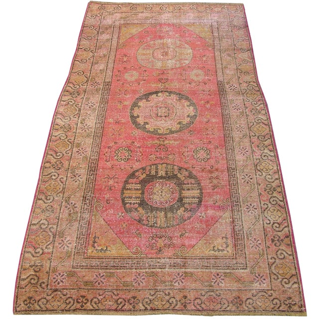 "Antique Samarkand Rug-5'8'x10"" For Sale"
