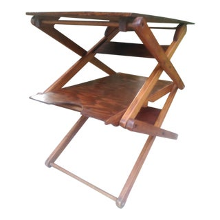 Final Markdown /1950s Height Adjustable Antique Butler Table/ Final Markdown For Sale