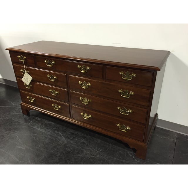 Davis Cabinet Co Solid Cherry Georgian Dresser - Image 3 of 11