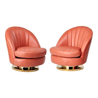 Swivel Chairs Milo Baughman - Pair For Sale