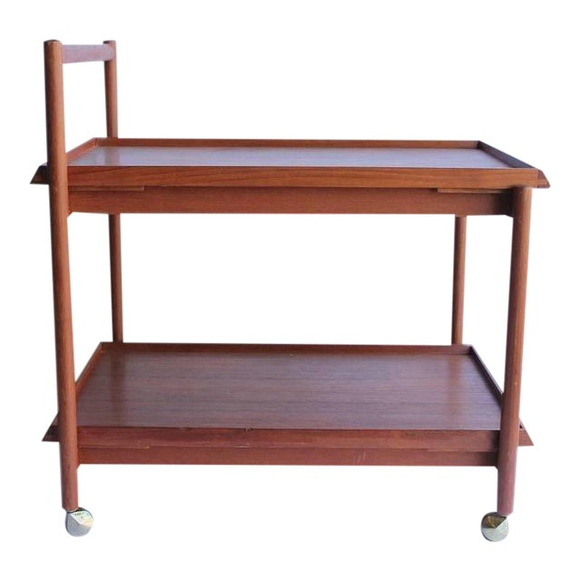 Mid-Century Danish Teak Bar Cart For Sale