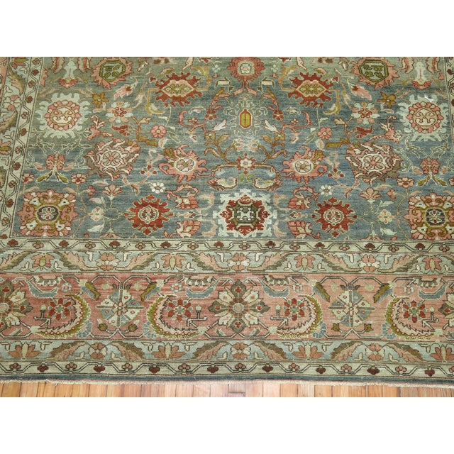 Sky Blue Antique Malayer Rug, 9' X 11'8'' For Sale - Image 8 of 11