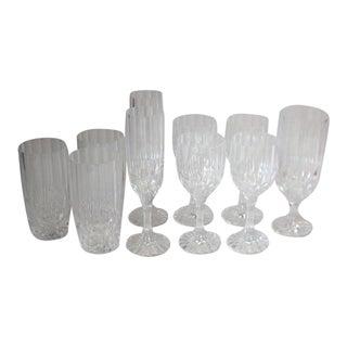 Vintage Mikasa Crystal Glasses - Set of 10 For Sale