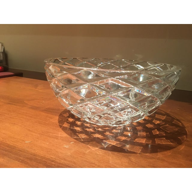 Contemporary Tiffany Diamond-Cut Crystal Bowl For Sale - Image 3 of 6
