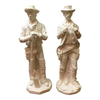 Vintage Western Ceramic Statues - A Pair For Sale