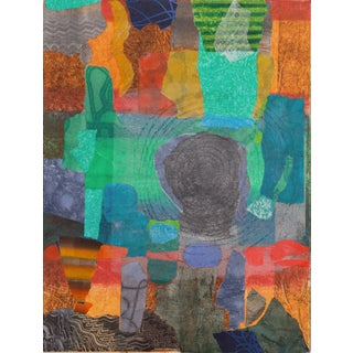 'View of Crete' by Douglas McClellan, 1988; Abstract Monotype, California Artist, Sfmoma, Lacma and Metropolitan Museum For Sale
