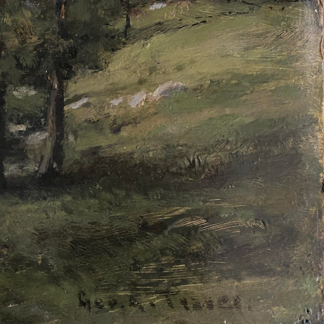 Late 19th Century Landscape Oil Painting by George A. Traver, Framed For Sale - Image 4 of 6