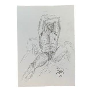 Man II by Alex Baker Drawing For Sale