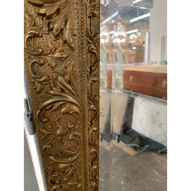 Wood 18th Century French Louis XVI Giltwood Mirror For Sale - Image 7 of 9