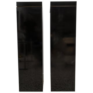 Mid-Century Modern Black Pedestals With Rotating Tops - a Pair For Sale