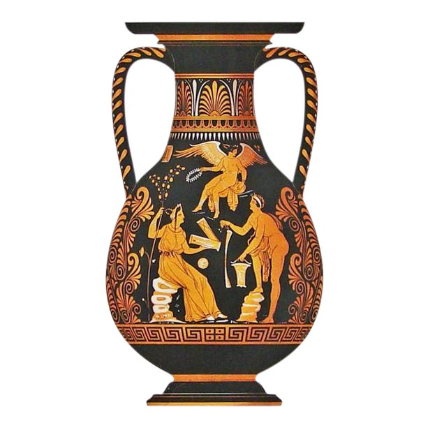 Albert Genick Framed Lithograph Print Of An Ancient Greek Vase An Amphora on Mixed Metals Interior Design