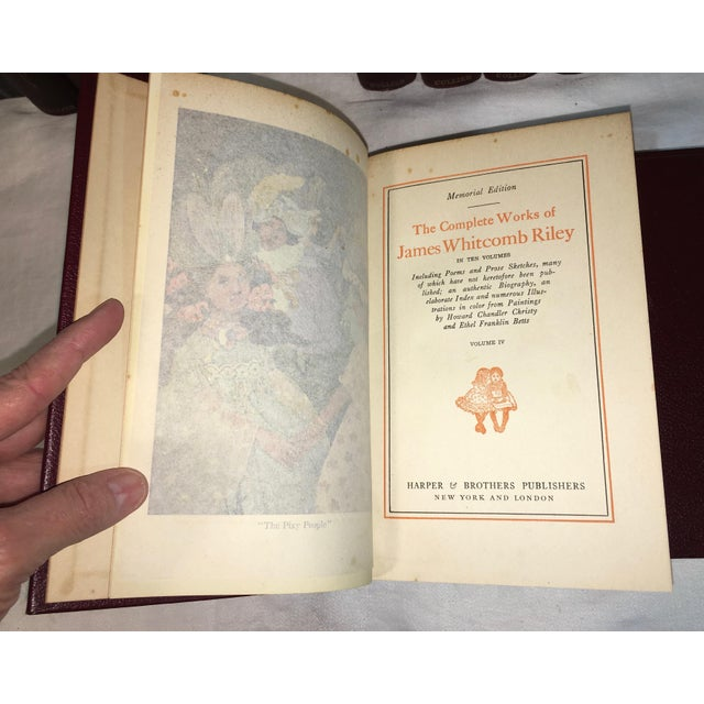 Antique James Whitcomb Riley Books - Set of 10 - Image 4 of 9