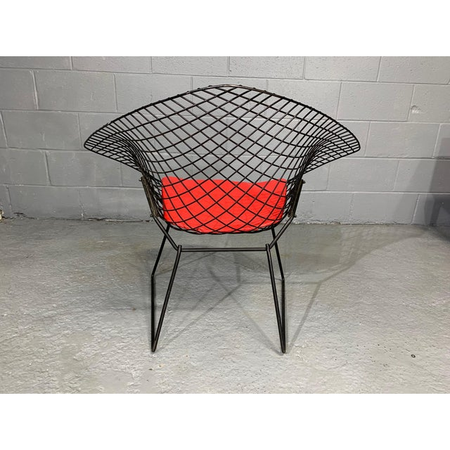 Harry Bertoia for Knoll Mid-Century Modern Diamond Chair With Red Seat C. 1952 For Sale In Boston - Image 6 of 13