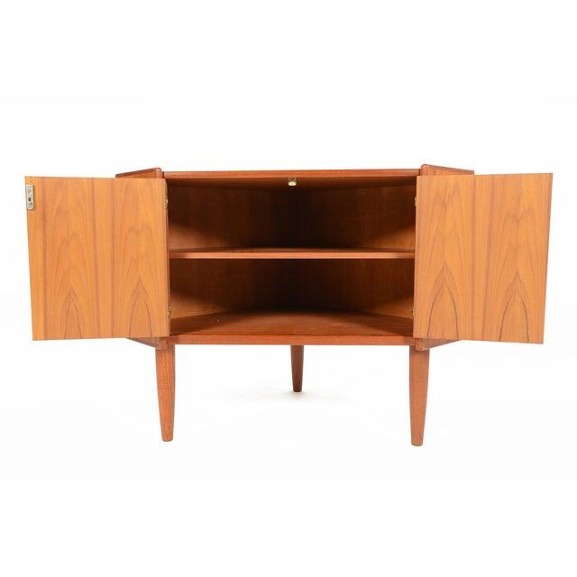 Danish Modern Low Teak Corner Cabinet - Image 6 of 8