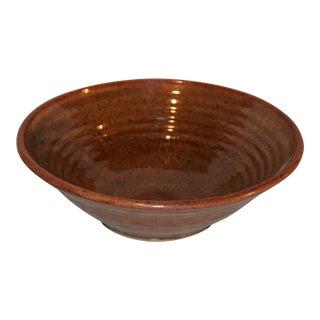 1970s Vintage Art Pottery Bowl