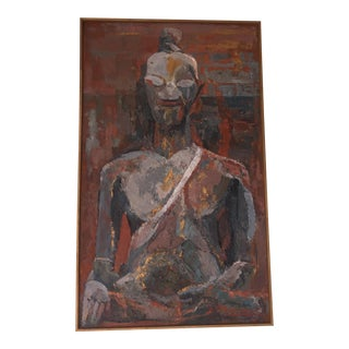 Mid-Century Buddha Painting For Sale