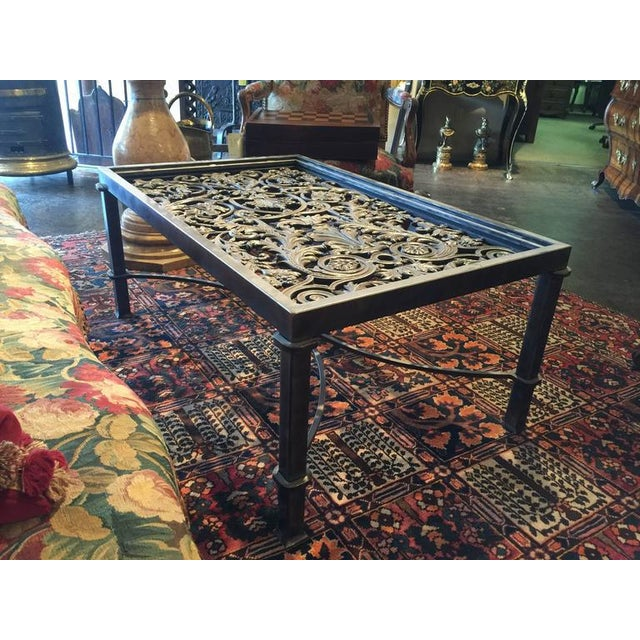 French 19th Century French Balcony Polished Iron Coffee Table Base For Sale - Image 3 of 8