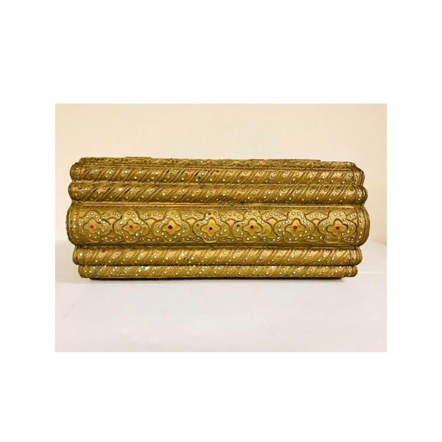 Anglo-Indian 1950s Giltwood Jeweled Box For Sale - Image 3 of 12