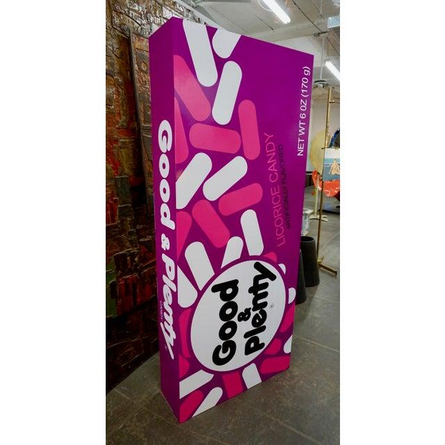 "Modern Pop Art Supersized ""Good&Plenty"" Licorice Candy Box For Sale - Image 3 of 7"