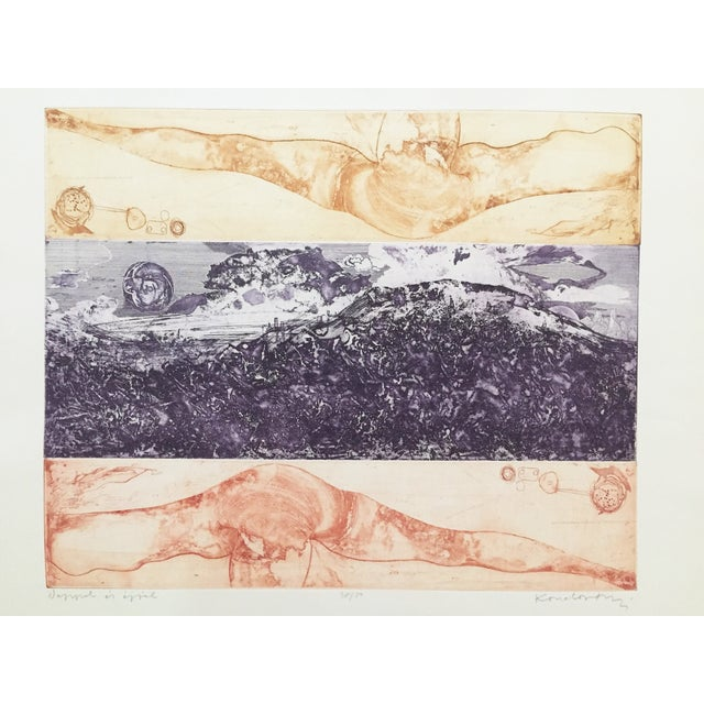 Vintage Surreal Abstract Etching by Lajos Kondor - Image 3 of 8