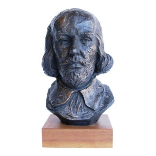 1965 Austin Productions Plaster Bust Sculpture of William Shakespeare For Sale
