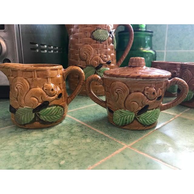 Vintage Squirrel Tea Set Japanese Pottery For Sale - Image 5 of 13