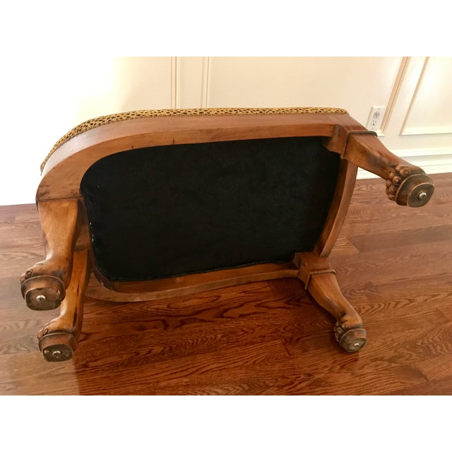 Maitland - Smith Vintage Maitland-Smith Cat Ottoman For Sale - Image 4 of 7