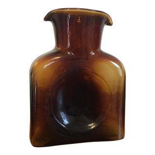 Blenko Glass Amber Water Pitcher