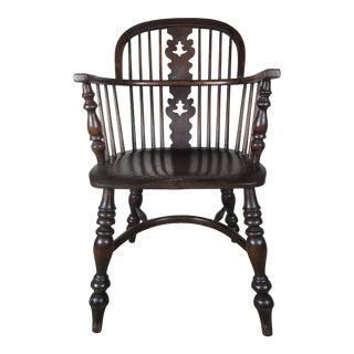 English Windsor Elm Wood Armchair