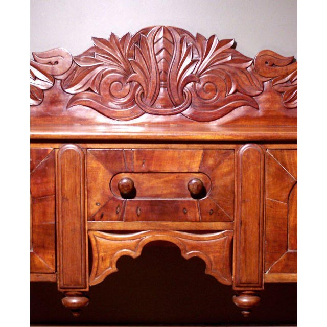 British Colonial Early 19th C Caribbean Mahogany Sideboard or Cupping Table For Sale - Image 3 of 4