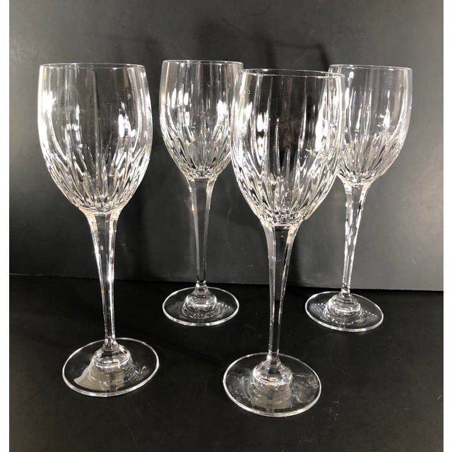 Mikasa Arctic Lights Imperial Cut Crystal Goblets - Set of 4 For Sale - Image 9 of 11