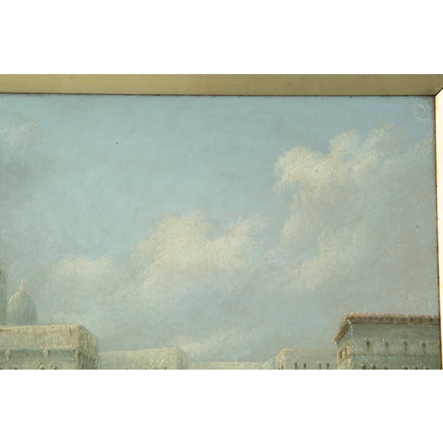 Canvas British Grand Canal Venice Antique Oil Paintings by James Salt - a Pair For Sale - Image 7 of 11