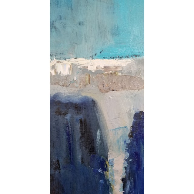 Original Acrylic Abstract Landscape Painting For Sale - Image 4 of 5