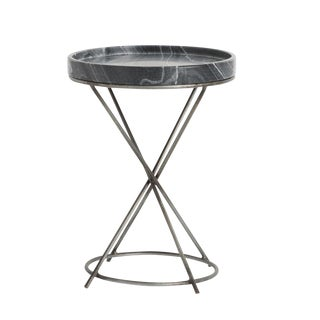 Modern Arteriors Home Grimes Marble Accent Table For Sale