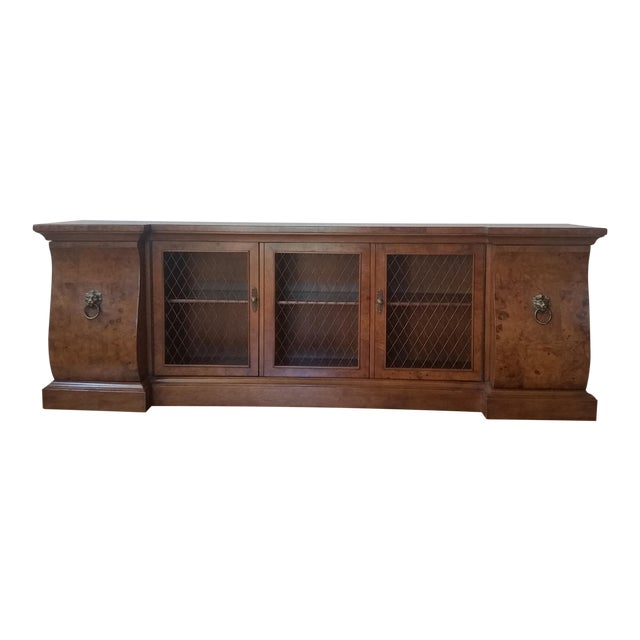 French-Style Burled Wood Credenza For Sale