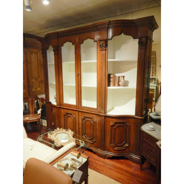 Narrow Walnut 19th C Italian Breakfront For Sale - Image 4 of 8