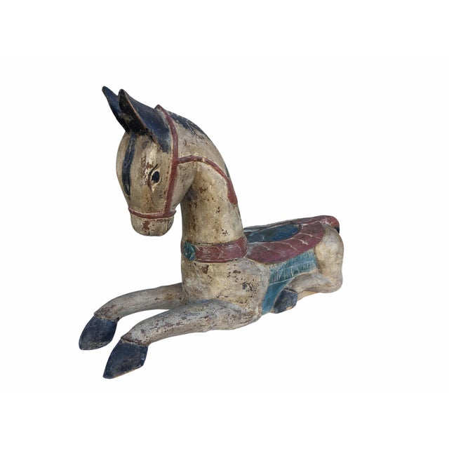 Antique Indian / Rajasthani Hand Carved Wooden Horse For Sale - Image 12 of 13