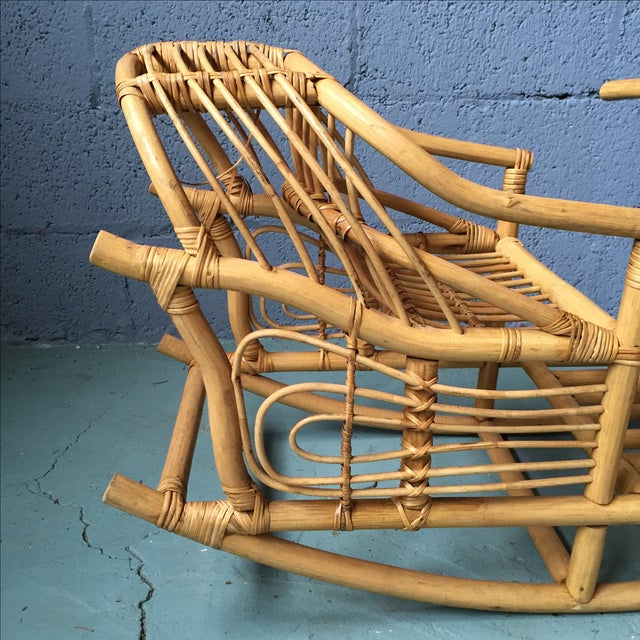 Vintage Child's Rattan Rocking Toy - Image 7 of 11