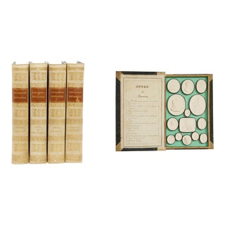 19th Century Grand Tour Complete 4 Volumes of Plaster Intaglios by Giovanni Liberotti For Sale