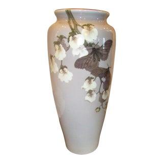Royal Copenhagen Vase With Orchid Design For Sale