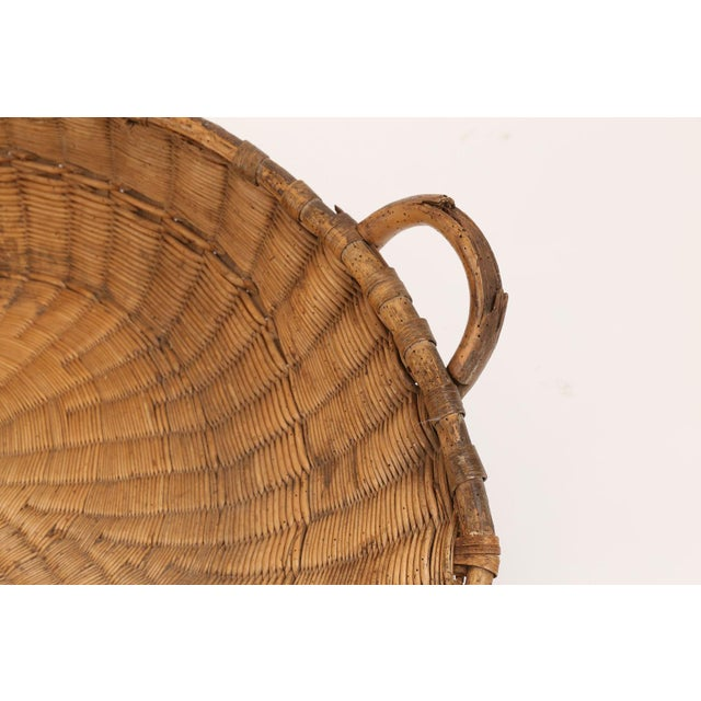 French Antique French Winnowing Basket For Sale - Image 3 of 8