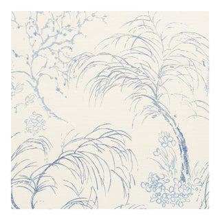 Sample - Schumacher Mori Sisal Wallpaper in Porcelain For Sale