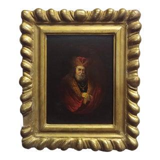 Portrait of a Monarch -18th Century Flemish Oil Painting