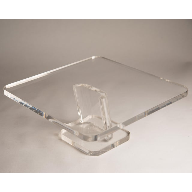 1970s 1970s Vintage Lucite Cake Plate Holder/Stand For Sale - Image 5 of 9