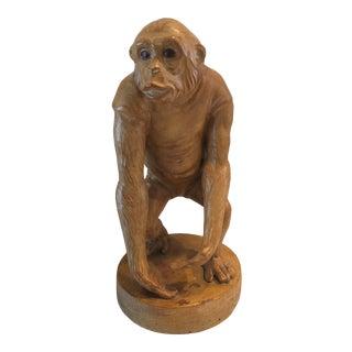 Vintage 1980s Large Terracotta Monkey For Sale