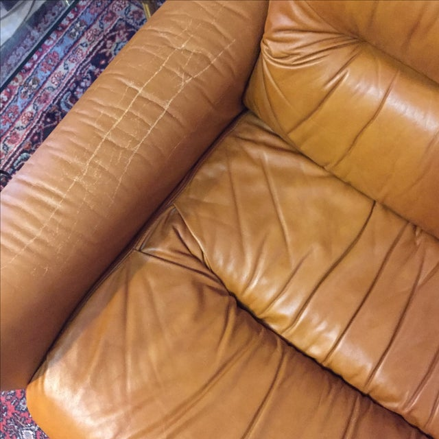 Vintage 1970s Leather and Chrome Sofa - Image 9 of 9